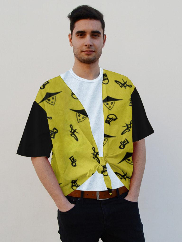 Camisa para fiestas en raso hombre