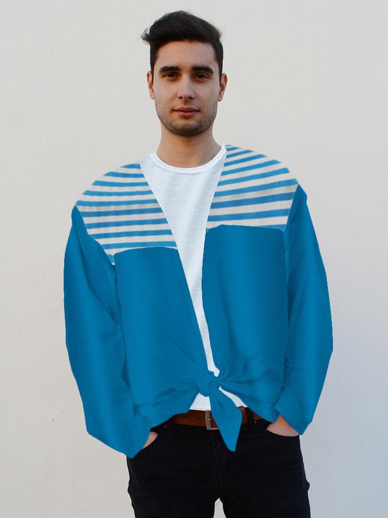 Camisa para fiestas en raso para hombre